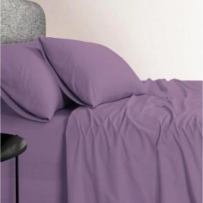 1200 TC Organic Cotton Plum Bed Sheet Set by Elan Linen