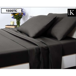 1500TC Mega King Bed Sheet Set Shadow Grey