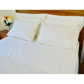 1500TC Pure Cotton Single Ivory Bed Sheet Set