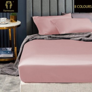 1500TC Mega Queen Elite Signature Ultra Smooth 100% Egyptian Cotton Sateen Fitted Sheet Set by Ramesses
