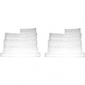 16pc Soft Egyptian Cotton Bath Towel Set in White