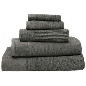 Costa Cotton Pewter Bath Towel by Bambury
