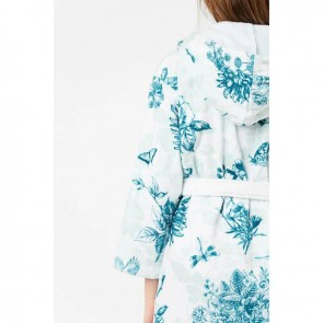 White Floral Robe - Desigual Living by Bambury