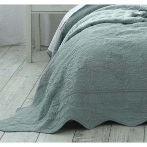 Ara Super King Bedspread Set Seafoam by MM Linen