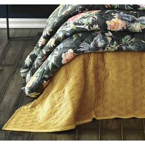 Aurum Gold Queen Bedspread Set by MM Linen