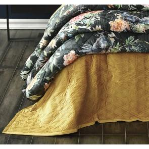 Aurum Gold King Bedspread Set by MM Linen