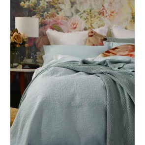 Nina Bedcover Set Duckegg by MM Linen