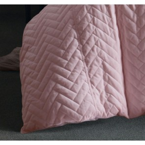 Chevron Blush Cotton Velvet Quilt Cover Set by Vintage Designs