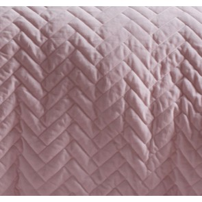 Chevron King Blush Cotton Velvet Quilt Cover Set by Vintage Designs
