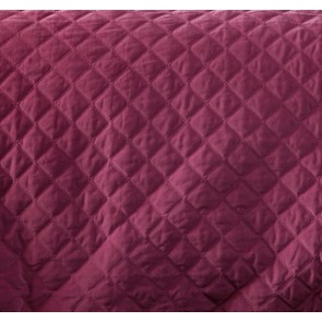 Diamond Deep Cerise Quilted Cotton Velvet Quilt Cover Sets by Vintage Design