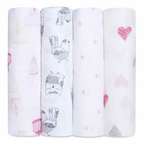 lovebird 4-pack classic swaddles by aden + anais