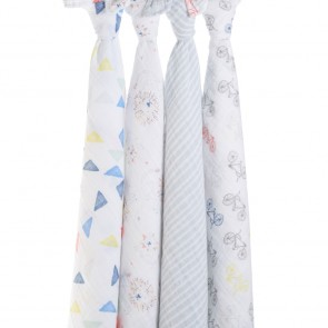 Leader of The Pack 4-pack Classic Swaddles By Aden + Anais