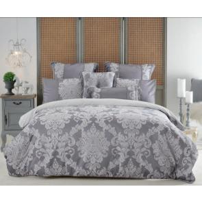 Prescott Grey Quilt Cover Set by Bianca