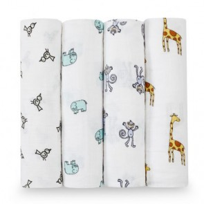 Jungle Jam Swaddle 4 Pack by Aden and Anais