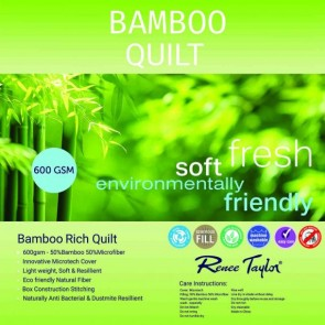 600 Gsm Bamboo Rich Quilt 50% Natural Bamboo Fibre 50% Microfiber