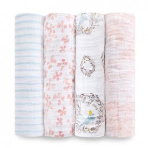 Birdsong 4 Pack Classic Swaddle by Aden and Anais