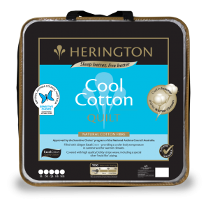 Cool Natural Queen Cotton Quilt by Herington