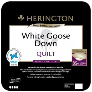 85% White Goose Down Double Quilt by Herington