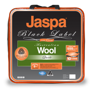 Wool Warm & Cosy Single Quilt by Jaspa Black