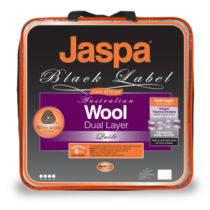 Wool Dual Layer Quilt by Jaspa Black