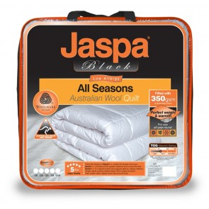 Wool All Seasons Double Quilt by Jaspa Black