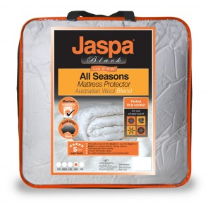 Wool All Seasons Double Mattress by Jaspa Black