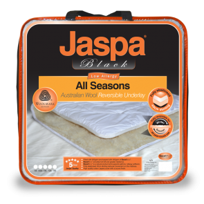 Wool All Seasons Reversible King Single Underlay by Jaspa Black