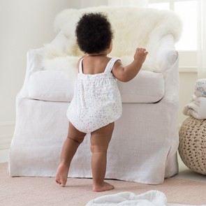 Lovely Mini Hearts Romper by Aden and Anais CS