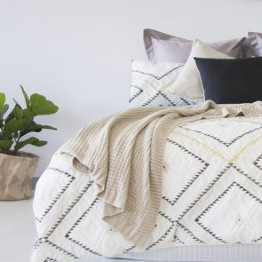 Poncho Boudoir Printed Embossed Quilt Cover Set by Ardor