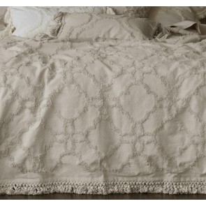 Clover Natural Queen Bedspread Set by MM Linen
