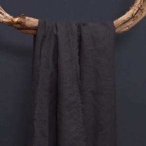 CHARCOAL Natural Home 100% European Flax Linen Throw 130x170cm