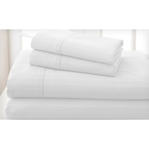 Royal Living 1200 Tc Cambridge Stripe &Sheet set by Bella Russo