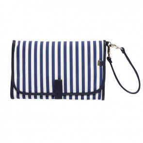 Change Navy/White Stripe Clutch by Oi Oi