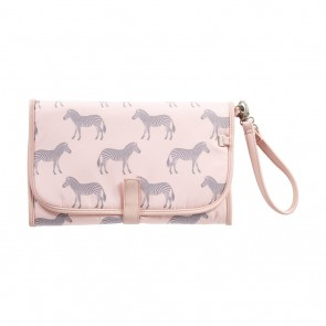 Change Zebra/Grey/Pink Clutch by Oi Oi