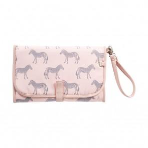 Change Zebra/Grey/Pink Clutch by Oi Oi