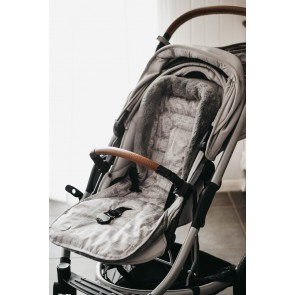 Reversible Cityscape Grey/ Poly Fleece stroller seat liner by Oi Oi