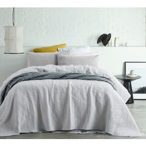 Macey White Vintage Washed Microfibre Coverlet by Accessorize