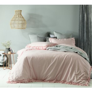 Maison Blush Linen Cotton Quilt Cover Set by Accessorize