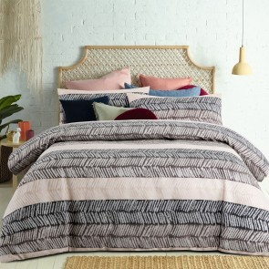Mezi Taupe Jacquard Quilt Cover Set by Accessorize