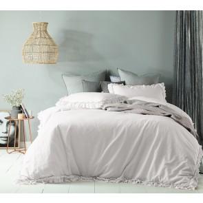 Maison White Linen Cotton Quilt Cover Set by Accessorize