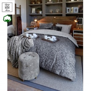 Coco Anthracite Riviera Maison Quilt Cover Set by Bedding House