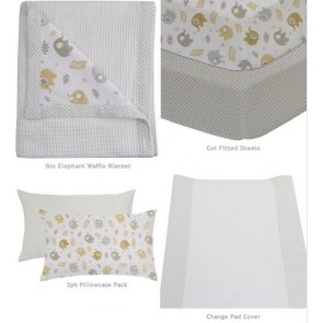 2pk bassinet Fitted sheet Jersey by Elephant & Gio cs