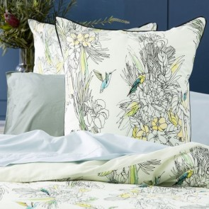 300 TC Blooming Cotton Printed Euro Pillowcase by Renee Taylor