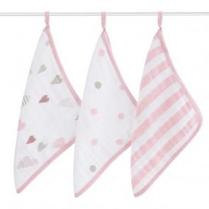 Heartbreaker 3pk Muslin Washcloth by Aden and Anais