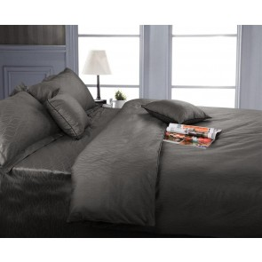 375 Thread Wave Jacquard King Quilt Cover Set by Kingtex