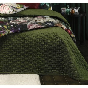 Aurum Pesto Super King Bedspread Set by MM Linen