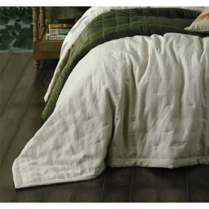 Laundered Linen Super King Natural Bedspread Set by MM Linen