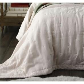 Laundered Linen Queen Bedspread Set Blush by MM Linen