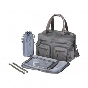 Carry All Denim Grey Nappy Bag by Oi Oi