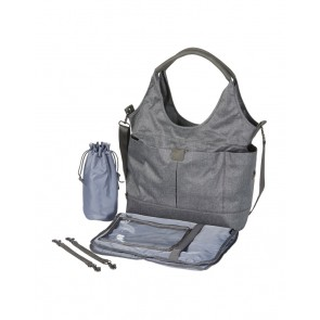 Tote Slouch Nappy Bag Denim Grey by OiOi